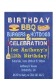 BBQ Hotdogs and Hamburgers - Birthday Party Petite Invitations thumbnail