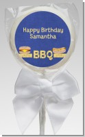 BBQ Hotdogs and Hamburgers - Personalized Birthday Party Lollipop Favors