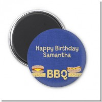 BBQ Hotdogs and Hamburgers - Personalized Birthday Party Magnet Favors