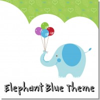 Elephant Blue Birthday Party Theme