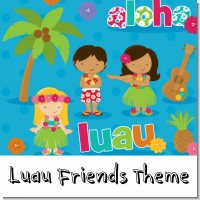 Luau Friends Birthday Party Theme