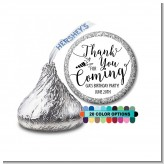 Thank You For Coming - Hershey Kiss Birthday Party Sticker Labels