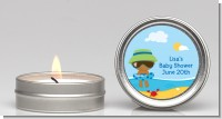 Beach Baby African American Boy - Baby Shower Candle Favors