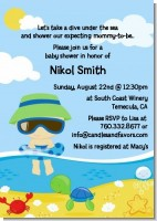 Beach Baby Asian Boy - Baby Shower Invitations