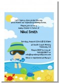 Beach Baby Asian Boy - Baby Shower Petite Invitations