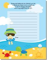 Beach Baby Asian Boy - Baby Shower Notes of Advice