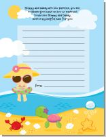 Beach Baby Asian Girl - Baby Shower Notes of Advice