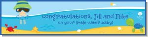 Beach Baby Boy - Personalized Baby Shower Banners