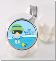 Beach Baby Boy - Personalized Baby Shower Candy Jar
