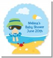 Beach Baby Boy - Personalized Baby Shower Centerpiece Stand thumbnail