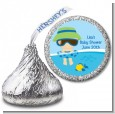 Beach Baby Boy - Hershey Kiss Baby Shower Sticker Labels thumbnail