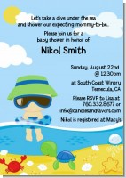 Beach Baby Boy - Baby Shower Invitations