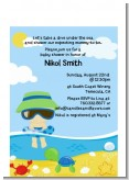 Beach Baby Boy - Baby Shower Petite Invitations