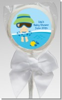 Beach Baby Boy - Personalized Baby Shower Lollipop Favors