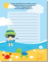 Beach Baby Boy - Baby Shower Notes of Advice