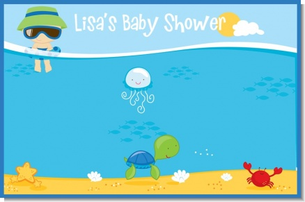 Beach Baby Boy - Personalized Baby Shower Placemats