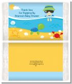 Beach Baby Boy - Personalized Popcorn Wrapper Baby Shower Favors
