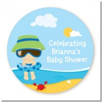 Beach Baby Boy - Personalized Baby Shower Table Confetti