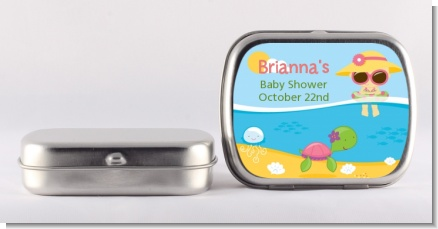 Beach Baby Girl - Personalized Baby Shower Mint Tins