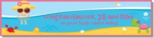 Beach Baby Girl - Personalized Baby Shower Banners