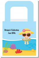 Beach Baby Girl - Personalized Baby Shower Favor Boxes