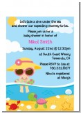 Beach Baby Girl - Baby Shower Petite Invitations