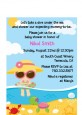 Beach Baby Girl - Baby Shower Petite Invitations thumbnail