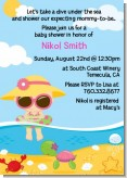 Beach Baby Girl - Baby Shower Invitations