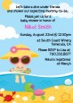 Beach Baby Girl - Baby Shower Invitations thumbnail
