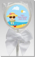 Beach Baby Girl - Personalized Baby Shower Lollipop Favors