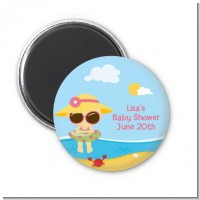 Beach Baby Girl - Personalized Baby Shower Magnet Favors