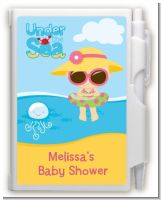 Beach Baby Girl - Baby Shower Personalized Notebook Favor