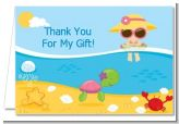 Beach Baby Girl - Baby Shower Thank You Cards