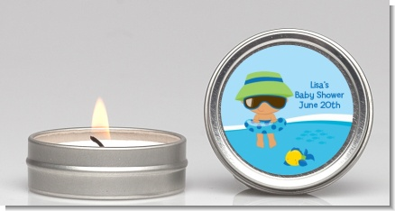 Beach Baby Hispanic Boy - Baby Shower Candle Favors