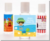Beach Baby Hispanic Boy - Personalized Baby Shower Hand Sanitizers Favors