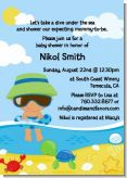 Beach Baby Hispanic Boy - Baby Shower Invitations