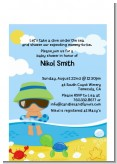 Beach Baby Hispanic Boy - Baby Shower Petite Invitations