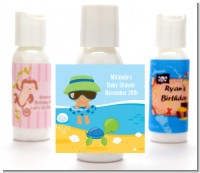 Beach Baby Hispanic Boy - Personalized Baby Shower Lotion Favors