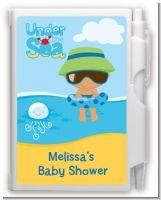 Beach Baby Hispanic Boy - Baby Shower Personalized Notebook Favor