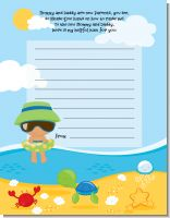 Beach Baby Hispanic Boy - Baby Shower Notes of Advice