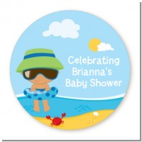 Beach Baby Hispanic Boy - Personalized Baby Shower Table Confetti