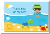 Beach Baby Hispanic Boy - Baby Shower Thank You Cards