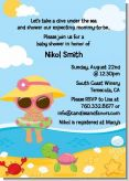 Beach Baby Hispanic Girl - Baby Shower Invitations