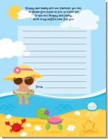 Beach Baby Hispanic Girl - Baby Shower Notes of Advice