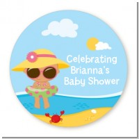 Beach Baby Hispanic Girl - Personalized Baby Shower Table Confetti