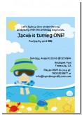 Beach Boy - Birthday Party Petite Invitations