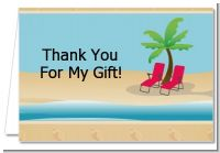 Beach Chairs - Bridal | Wedding Thank You Cards