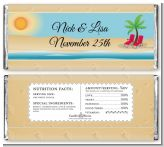 Beach Chairs - Personalized Anniversary Candy Bar Wrappers