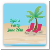 Beach Chairs - Personalized Retirement Party Card Stock Favor Tags