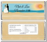 Beach Couple - Personalized Bridal Shower Candy Bar Wrappers